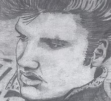 Black and White Elvis  by Tracey Pearce