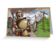 Steambot Greeting Card