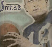 Johnny Unitas by artmgm