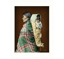Ute woman and child Art Print