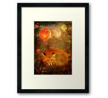 Fox Dreams Framed Print