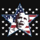 Obama Star Shirt by JayBakkerArt