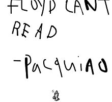 Floyd Can't Read, Pacquiao by LouisCera