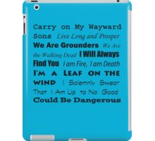 Multi-Fandom Anthem iPad Case/Skin