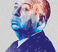 Alfred Hitchcock Blue Portrait by amillusions