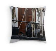 Cords and boat Throw Pillow