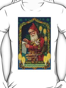 Merry Christmas Vintage -Available As Art Prints-Mugs,Cases,Duvets,T Shirts,Stickers,etc T-Shirt
