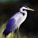 Blue Heron by Don Wright
