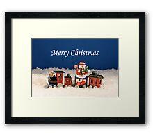 Christmas Express Train Framed Print