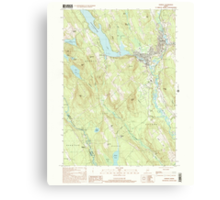 Maine USGS Historical Map Norway 102838 2000 24000 Canvas Print