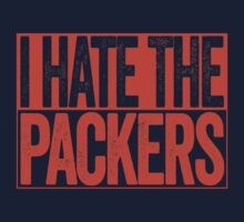 I Hate The Packers - Chicago Bears T-Shirt - Show Your Team Spirit - Orange Box Design - Haters Gonna Hate by BeefShirts