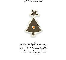 Christmas Card - Retro Wish Tree by © Karin  Taylor
