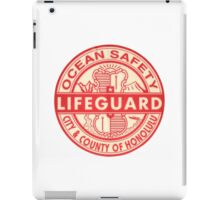 Hawaii Lifeguard Logo iPad Case/Skin