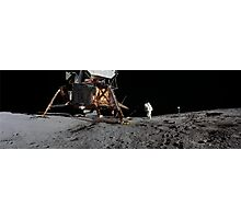 Apollo 12 : Amazing Panoramic Picture Taken on the Moons surface Photographic Print