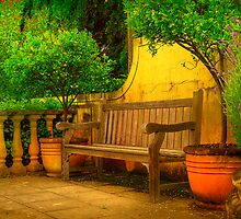 Mediterranean Bench ~ No 1 by Rosalie Dale