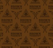 Browncoats forever, Firefly Pattern in Brown by Kelly Street