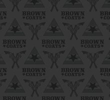Browncoats forever, Firefly Pattern in Charcoal by Kelly Street