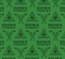 Browncoats forever, Firefly Pattern in Green by Kelly Street