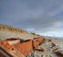 Beach wreck by Peter Hancock