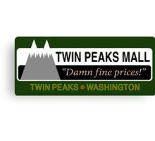 Twin Peaks Mall Canvas Print
