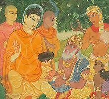 Gautama Buddha Instructs a Wise King by Swagavad-Gita
