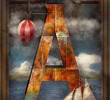 Steampunk - Alphabet - A is for Adventure by Mike  Savad