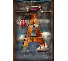 Steampunk - Alphabet - A is for Adventure Photographic Print
