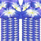 Blue Floral leggings by Carolyn Clark