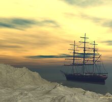Clipper at Sunset by Sazzart