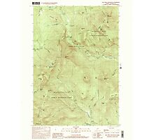 Maine USGS Historical Map Old Speck Mountain 102845 2000 24000 Photographic Print