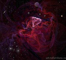 Heart-shaped nebula by Ingrid Funk
