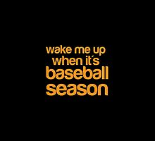 Wake me up when it's BASEBALL season by jazzydevil