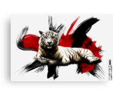 Japanese White Tiger Canvas Print