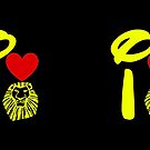 I Heart The Lion King (Gold) by ShopGirl91706