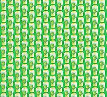 Green shamrock Irish Pint of beer by jazzydevil