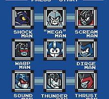 Transformers Megaman Style Design (Decepticon) by ItsJustMeAgain