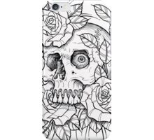 skull rose iPhone Case/Skin