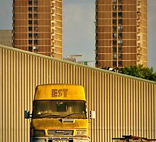2012 London Olympic Pre-Demolition Yellow 2 by Adrian Rachele