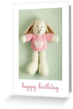 whisper birthday by bunnyknitter
