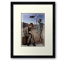 we are not alone Framed Print