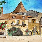 Watercolour.                            Paysages de Dordogne  France  by Irene  Burdell