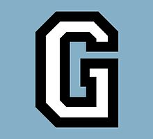 Letter G two-color by theshirtshops