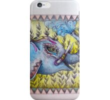 indian elephant playing with water iPhone Case/Skin