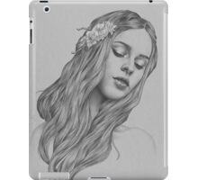 Patience digital illustration of a young girl iPad Case/Skin