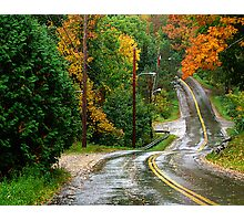 Rain on A Country Road Photographic Print