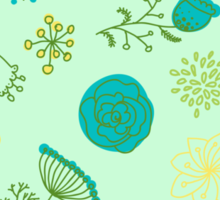 Elegance Seamless pattern with flowers, vector floral illustration in vintage style Sticker