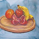 bowl of fruit by Leanne Inwood