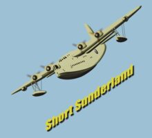 Short Sunderland Flying Boat WWII T-shirt & leggings by Dennis Melling