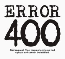 Error 400 bad request by FrontierMM