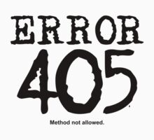 Error 405. Method not allowed. by FrontierMM